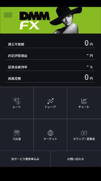 DMMFXアプリ際立つ情報の見易さ①